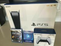 Sony PlayStation 5 Console + Extra Controller + Remote + HD Camera + Game