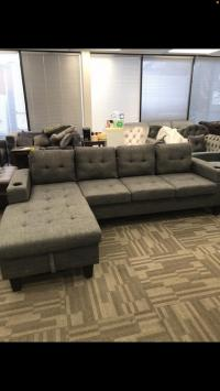 Brand new sectional with reversible chaise
