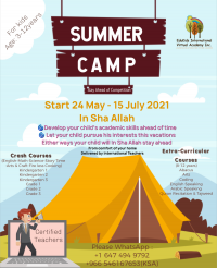 Online Summer Camp 2021(3-12 years kids)