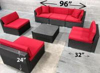 Patio furniture wicker outdoor ALUMINUM - INCLUDED! 6476998240 conversation set on classified site canada