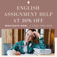 English Assignment Help at 30% OFF