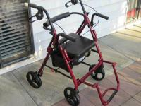 RED DRIVE DUET TRANSPORTER AND ROLLATOR WALKER COMBO FOR SALE