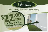 8x6 White Vinyl Privacy Fence - E2 Vinyl Fence Inc on now toronto classifieds