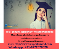 Acquire Best Accounting Assignment Help Service at Expertsmind!