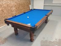 POOL TABLES ANY SERVICE TO ANY MAKE OR SIZE. NEW HAND CRAFTED