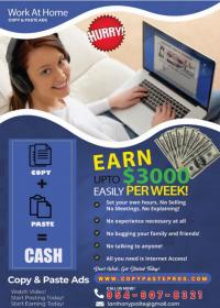 Earn up to $3,000 easily per week. No BS 100% REAL!