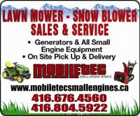 Mobiletec Lawnmower Snowblower Repair