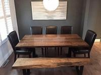 LIVE EDGE TABLE RECLAIMED WOOD SLAB DINING TABLE KITCHEN TABLE on buy and sell Toronto.