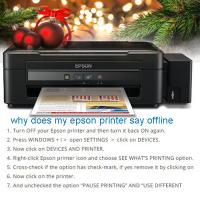 How to Bring an Offline Epson Printer Online