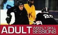 Adult ice hockey skills and power skating sessions