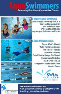 Swimming Lessons - Aquaswimmers on canada local classifieds