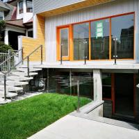 Glass Railings and Modern Stairs