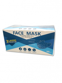 Disposable 3ply face mask - Pack of 50 - Available in Hamilton