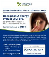 Peanut Allergy Study for Children on now toronto classifieds