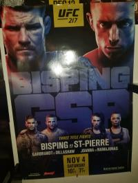 Bisping vs GSP official poster